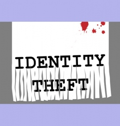id theft vector image vector image
