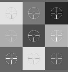 sight sign grayscale version vector image