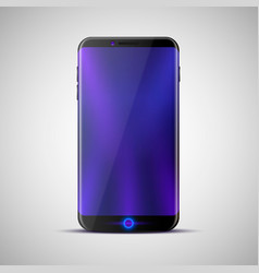 the design of a new touchscreen phone vector image
