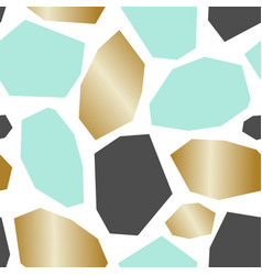 green gold gray abstract geometric pattern vector image