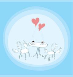hot love inspires vector image
