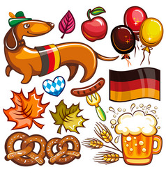 oktoberfest set of icons and objects vector image