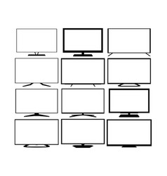 tv web icons set vector image vector image