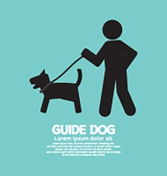 Guide Dog Graphic Symbol vector image
