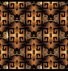 3d baroque seamless pattern vector image