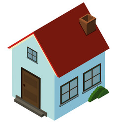 3d design for small house with red roof vector image