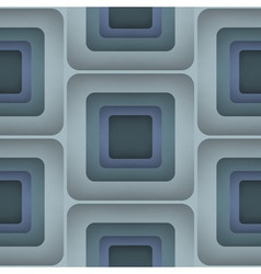 3D Squares Seamless Pattern vector image