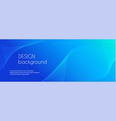 abstract blue long banner wavy minimal vector image