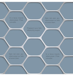 Abstract honeycomb pattern background vector image vector image