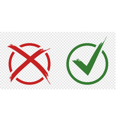 acceptance and rejection symbol buttons for vote vector image