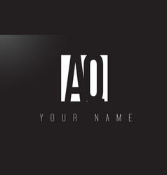 Aq letter logo with black and white negative vector