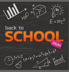 back to school banner vector image