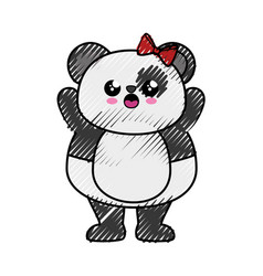 Bear panda kawaii cartoon vector