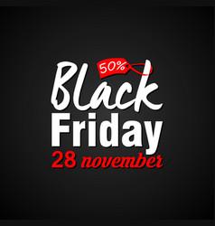 black friday sale inscription vector image