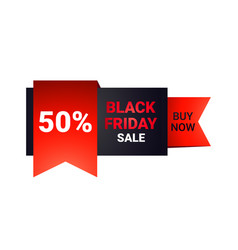 black friday sticker or discount banner holiday vector image