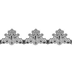 black lace ribbon vector image