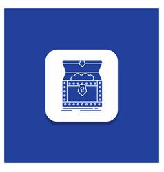 Blue round button for box chest gold reward vector