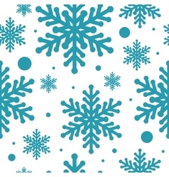 Blue snowflake seamless isolated vector image