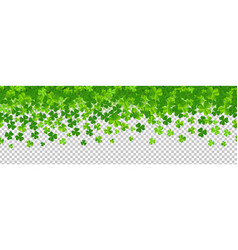 Border with clovers transparent background vector