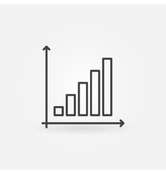 Business graph linear icon vector image