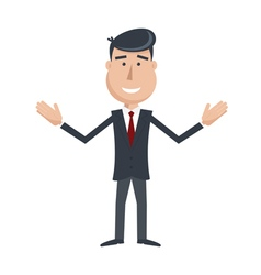 Businessman hands up vector