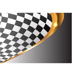 Checkered gold line curve gray gradient sport race vector