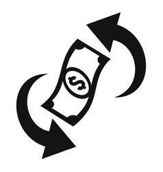Convert money cash back icon simple style vector