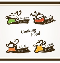 Cooking symbols vector image