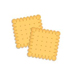 Delicious biscuit vector