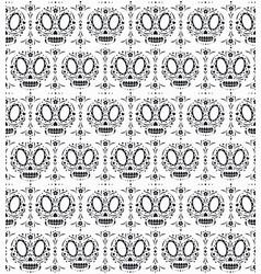 dia de los muartes holiday skulls pattern vector image