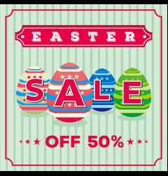 easter sale banner design vector image