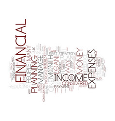 Financial plan your way to success text vector