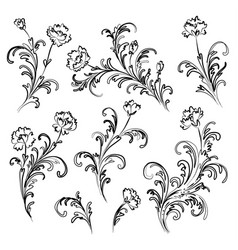 Floral branches set vector