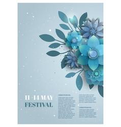flower poster for the festival vector image