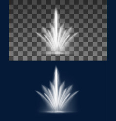 fountain cascade water jets and splashes spray vector image
