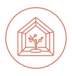 Greenhouse line icon vector