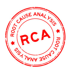 Grunge red rca root cause analysis word round vector