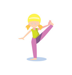 Gymnastics for children concept in flat design vector