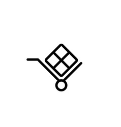 handcart shipmentfreight delivery icon line black vector image