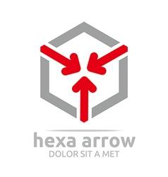 hexa arrow design icon symbol star vector image