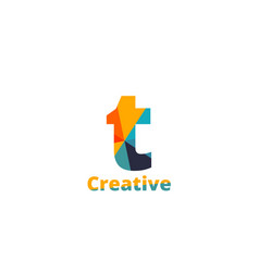 Initial letter colorful logo vector