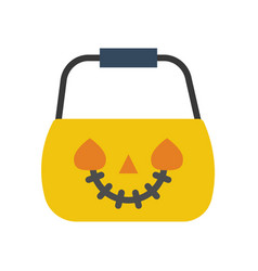 jack o lantern halloween related icon flat design vector image