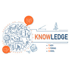 Knowledge icons collection for education vector