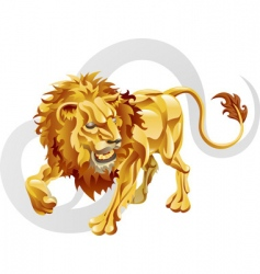 Leo the lion star sign vector image