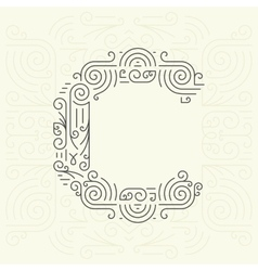 Letter C Golden Monogram Design element vector