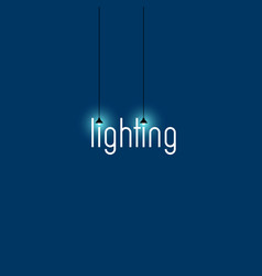 Lighting store logo vector