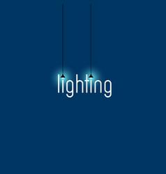 lighting store logo vector image