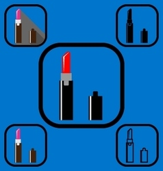 lipstick icons set vector image