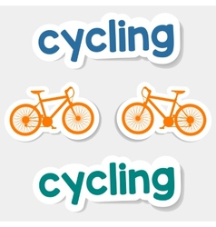 logo cycling on a light background vector image
