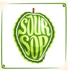 Logo for soursop fruit vector